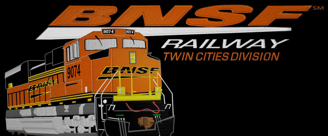 We Enjoyed Working On This Embroidery Project for BNSF Railway